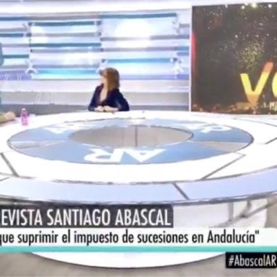 Santiago Abascal (Vox), al programa d'Ana Rosa Quintana (Telecinco)