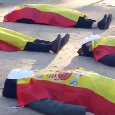 Ultres espanyols, davant el Parlament