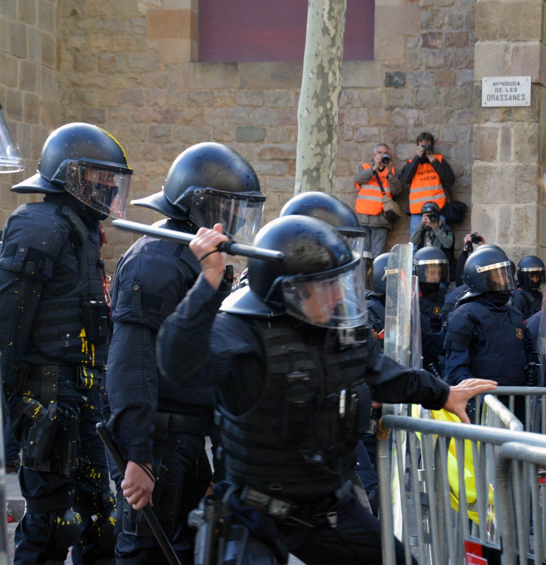 Càrregues policials dels Mossos el 21-D/ Marina Bou