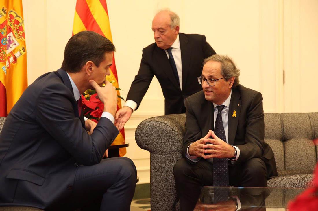Torra i Sánchez, reunits/ Twitter @Marc_Amat