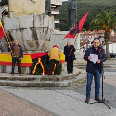 Manifestació franquista a Santuña, Cantàbria/Twitter @MCE_AJE