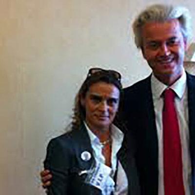 Yolanda Coucerio amb el líder d'extrema dreta Geert Wilders
