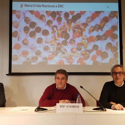 Presentació del manifest crític 'Crida Nacional a ERC'