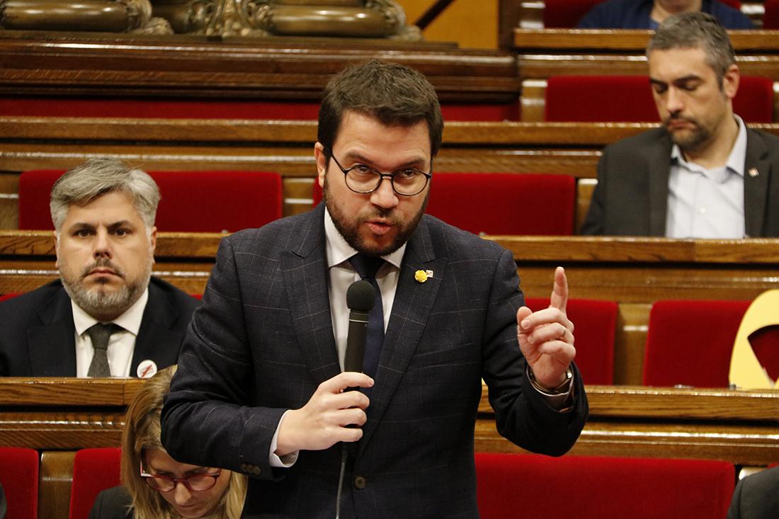 El vicepresident del Govern, Pere Aragonès