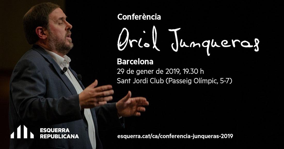 Convocatòria de la conferència de Junqueras anunciada per ERC