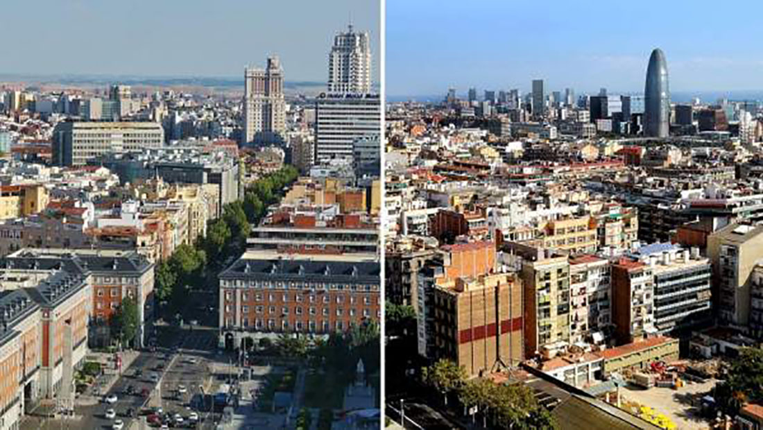 Vistes de Madrid i Barcelona