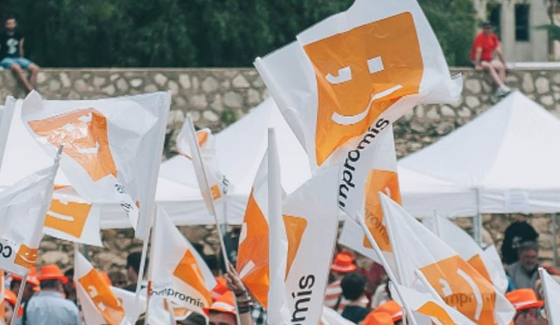 Simpatitzants de Compromís al País Valencià/ Twitter @compromis