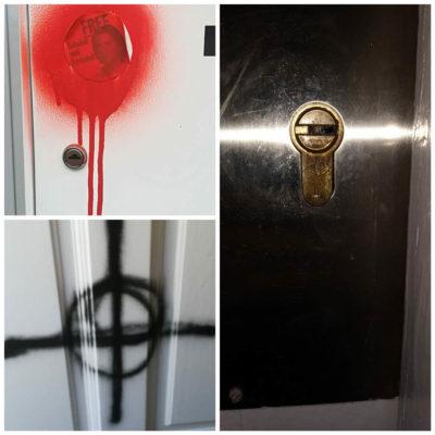 Atac feixista al domicili d'una militant de les juventuts d'ERC/ Twitter @JoventSabadell