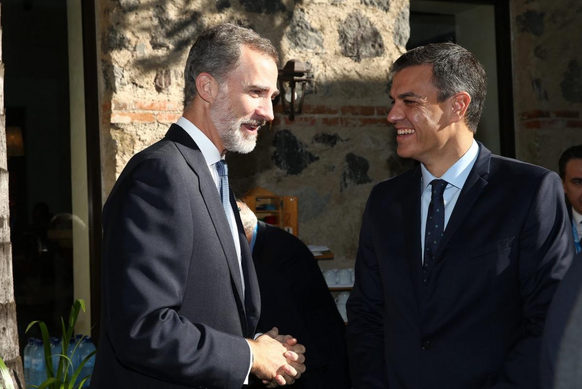 Felip VI i Pedro Sánchez, en una imatge d'arxiu