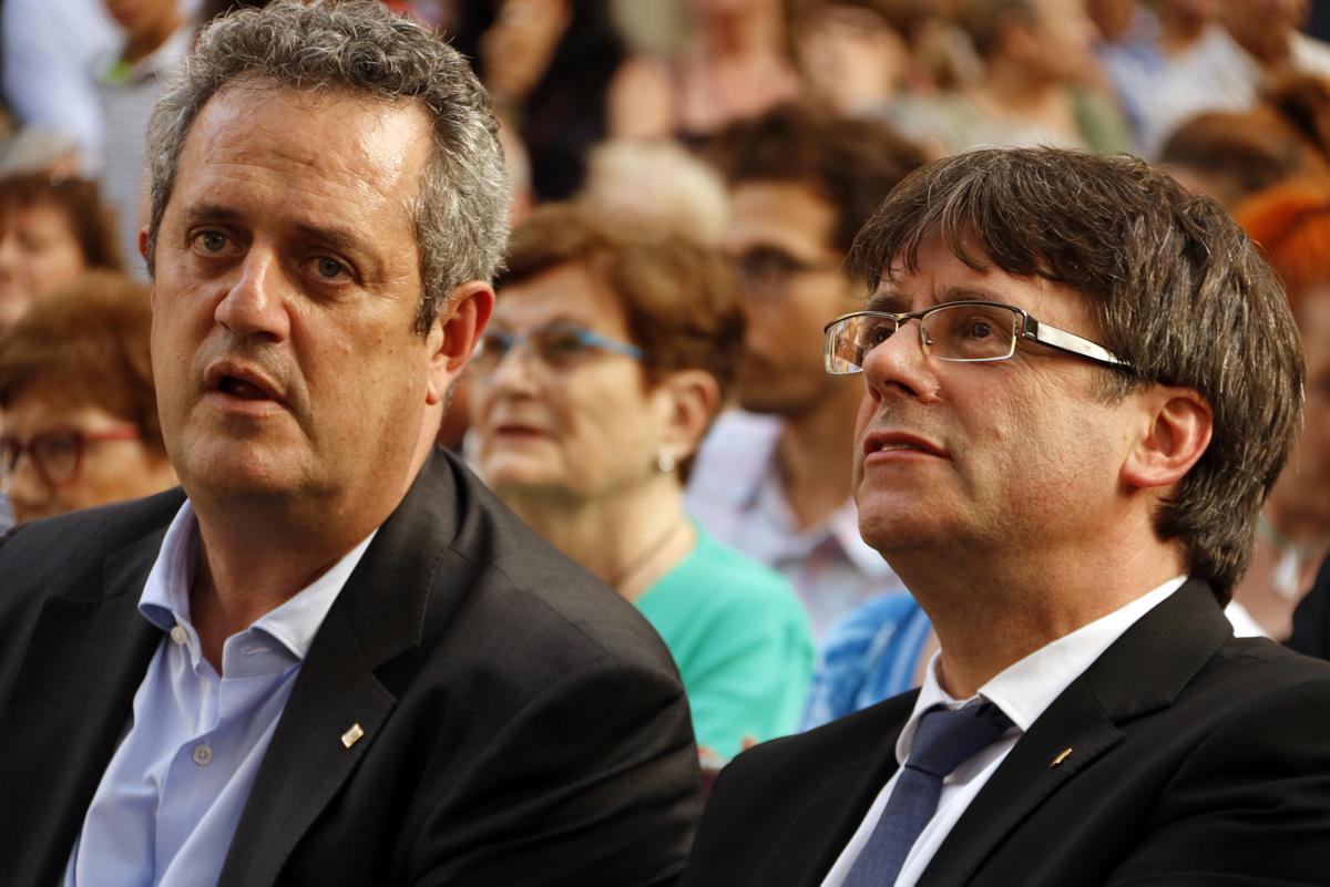 Quim Forn i Carles Puigdemont, en una imatge d'arxiu