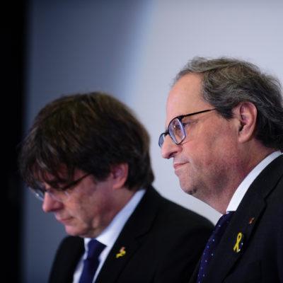 Quim Torra i Carles Puigdemont, en una imatge d'arxiu