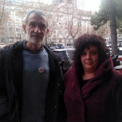 Antxon Ramírez i Edurne Goikoetxea, familiars dels joves d'Altsasu