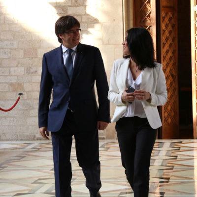 Carles Puigdemont i Marcela Topor, en una imatge d'arxiu