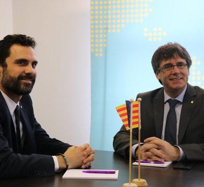 Roger Torrent i Carles Puigdemont, en una imatge d'arxiu