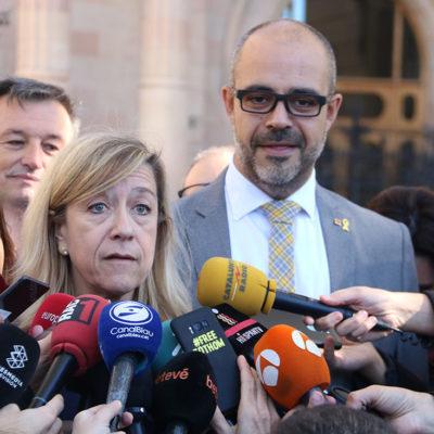 L'alcaldessa Neus Lloveras i el conseller Miquel Buch