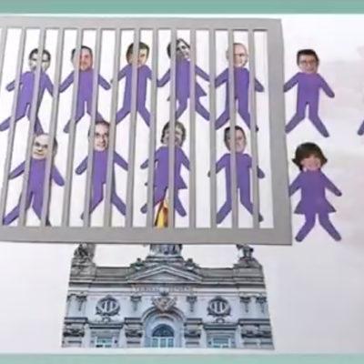 Una captura de pantalla del vídeo de 'France 3' / Twitter @JuliaTaurinya