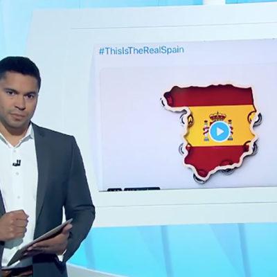 'Al Jazeera' emet un vídeo d'un tuiter independentista/ Twitter @Juanmi_News