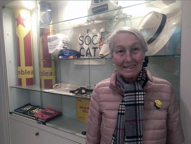 La coordinadora de 'Jueus per la independència', Maria Teresa Massons