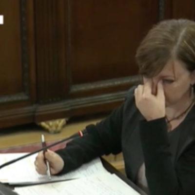Meritxell Borràs s'emociona durant la seva declaració al Tribunal Suprem
