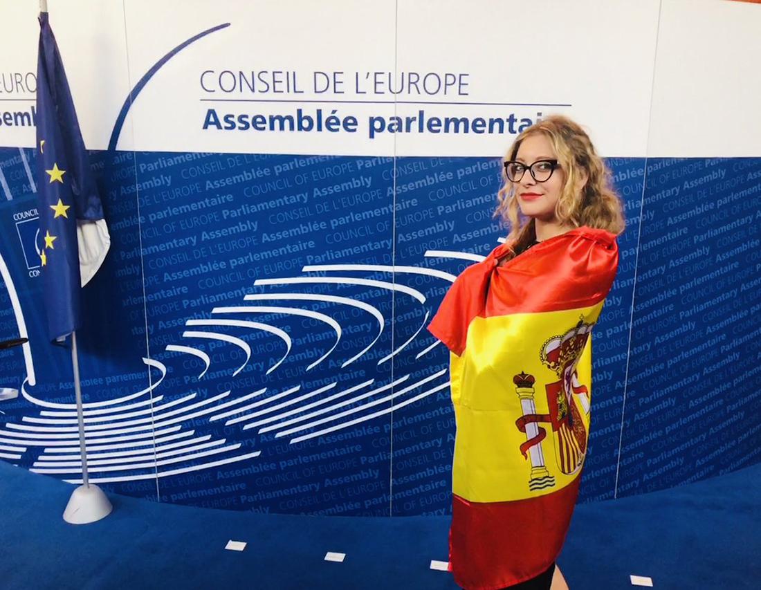 La senadora del PP, Ester Muñoz/ Twitter @EsterMunoz85