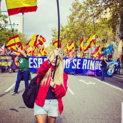 Melisa Domínguez, líder d'Hogar Social Madrid/ Twitter @MelisaDRuiz