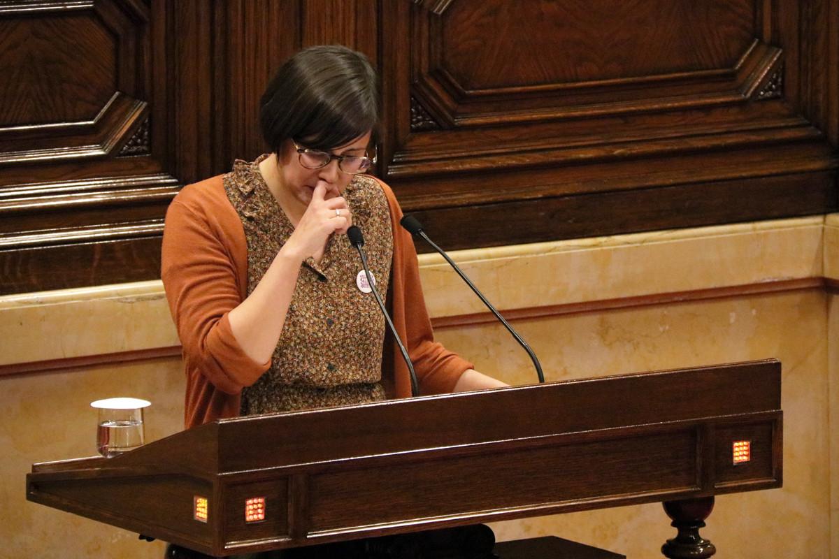 Jenn Diaz, avui al Parlament