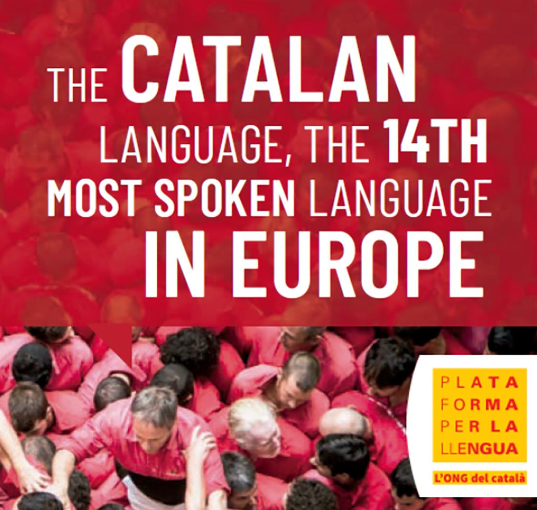 Imatge de la 'Plataforma per la Llengua' per presentar l'exposició sobre el català