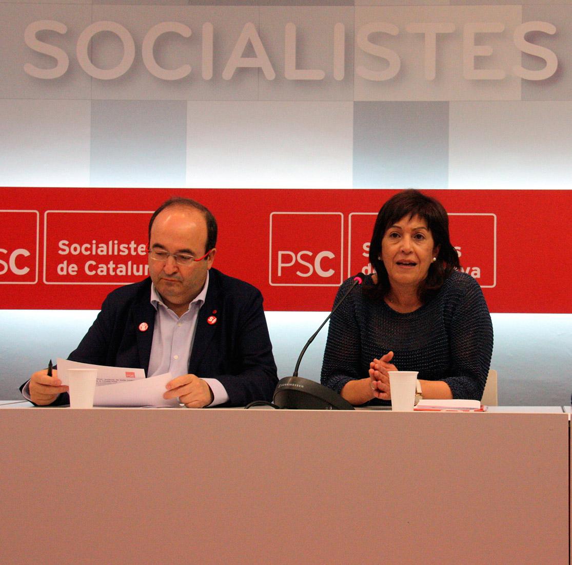 Miquel Iceta amb Ana del Frago, en una imatge d'arxiu
