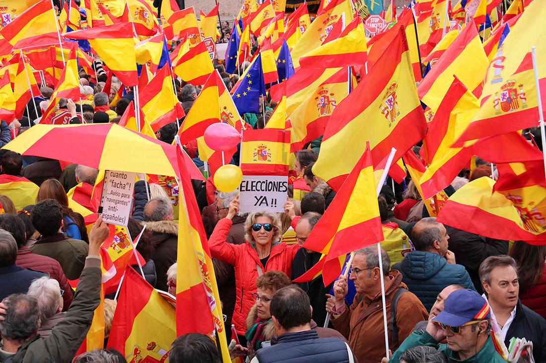 Imatge de la manifestació del 10/02/2019 a Madrid