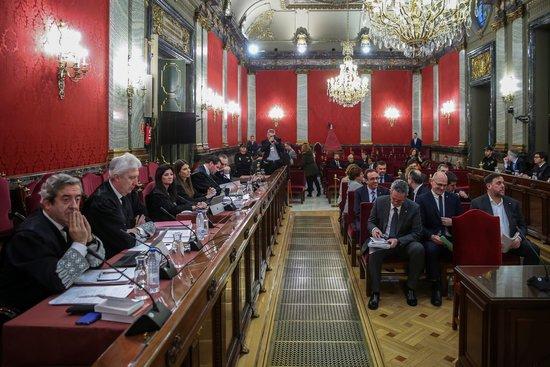 Imatge de la sala del Suprem on se celebra el judici de l'1-O / ACN