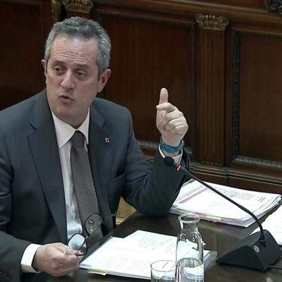 Joaquim Forn responent les preguntes del fiscal en el judici de l'1-O