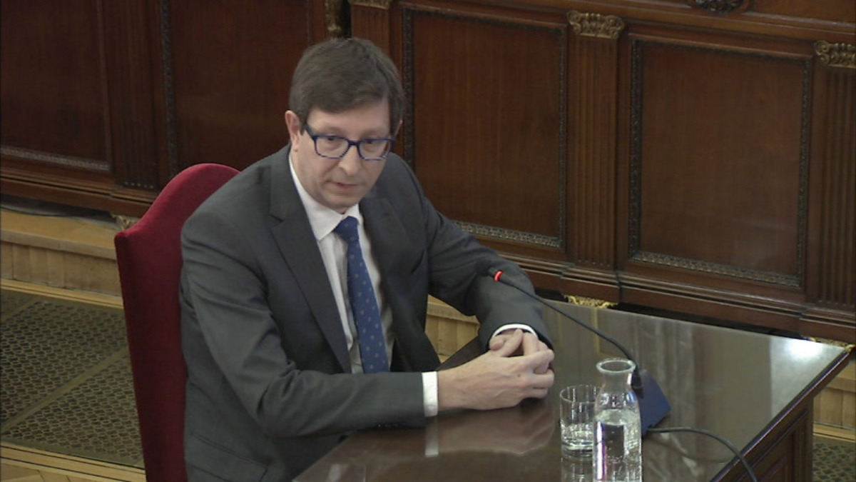 Carles Mundó declarant davant del Tribunal Suprem