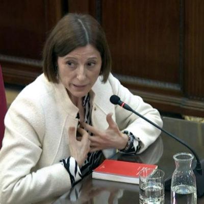 L'expresidenta del Parlament Carme Forcadell declarant al Tribunal Suprem