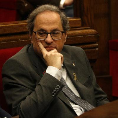El president de la Generalitat, Quim Torra, al Parlament