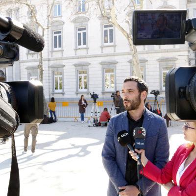 Xavier Muñoz Soriano, de la Plataforma Internacional Tryal Watch, davant del Tribunal Suprem