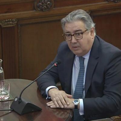 L'exministre de l'Interior Juan Ignacio Zoido, durant la compareixença al Tribunal Suprem pel judici de l'1-O