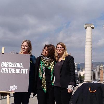 Acte de precampanya de JxCat a Barcelona