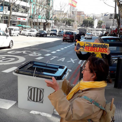 Protesta del col·lectiu 'Silenci...rebel·leu-vos!' a Madrid/ Twitter @silenci_tgn