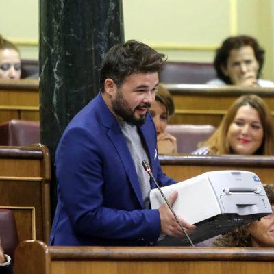 Gabriel Rufián, al Congreso/ Twitter @EnComu_Podem