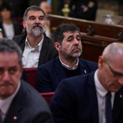 Presos polítics, en una imatge d'arxiu del judici de l'1-O