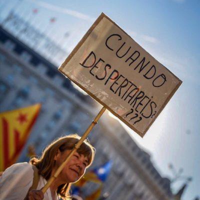 Imatge de la manifestació de l'independentisme a Madrid / Marc Puig