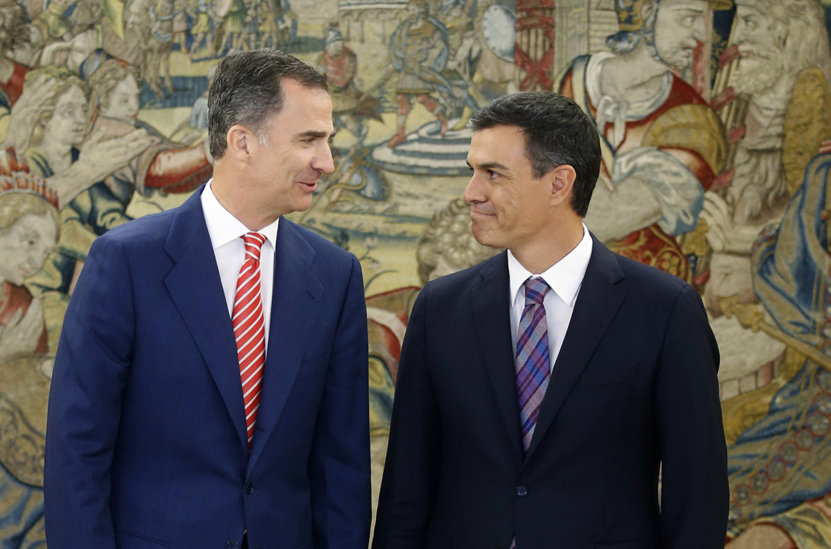 Felipe VI i Pedro Sánchez, en una imatge d'arxiu