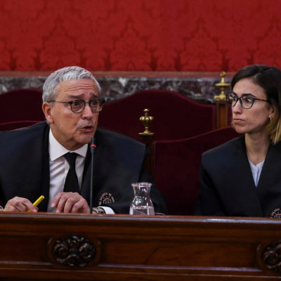 Xavier Melero, l'advocat de Quim Forn, al judici de l'1-O