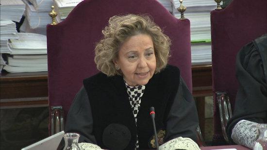 La fiscal Consuelo Madrigal, en una sessió del judici de l'1-O