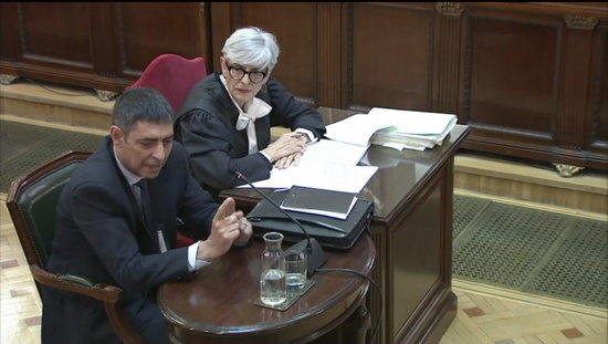 Josep Lluís Trapero, durant la seva declaració al Tribunal Suprem / ACN