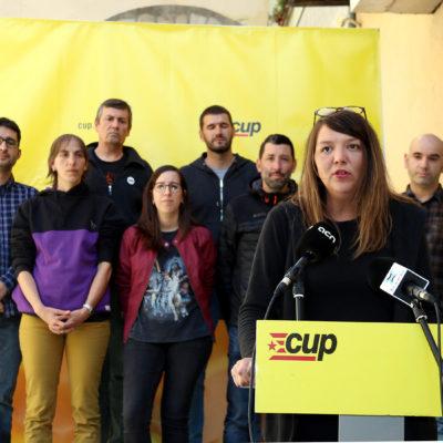 Venturós, durant la presentació de la llista de la CUP a Berga