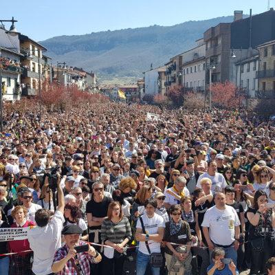 Pla aeri general dels participants a la manifestació d'Altsasu, el 24 de març