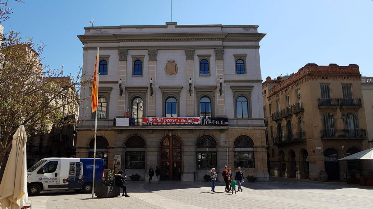 La façana de l'Ajuntament d'Igualada
