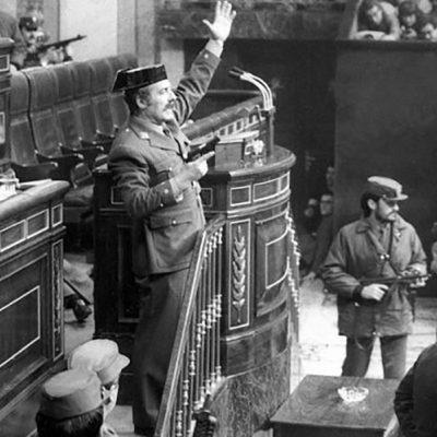 Imatge de l'intent de cop d'Estat del 23 de febrer de 1981 a Espanya