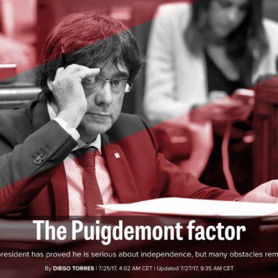 Article a 'Politico' sobre Puigdemont